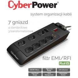 Listwa zasilająca 7 gniazd 1.8m CyberPower SB0701AD-FR