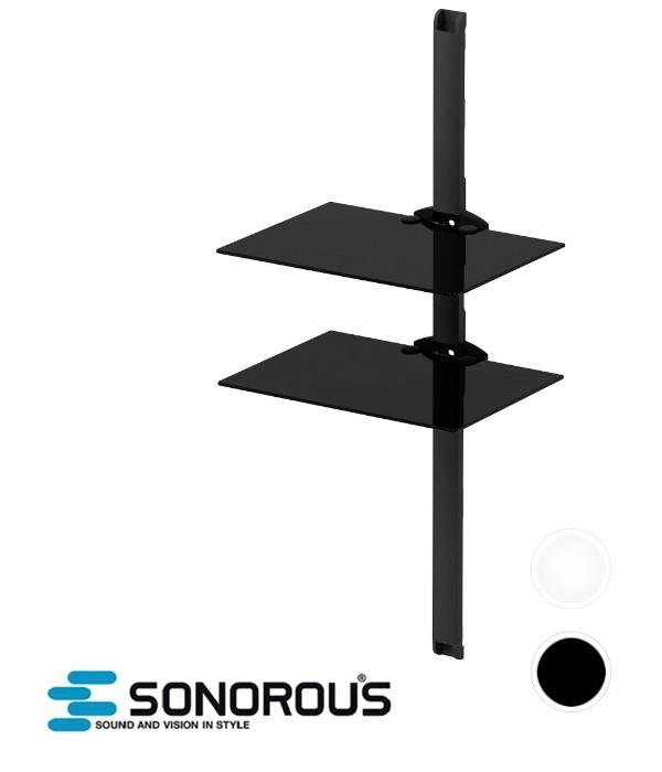 Półka ścienna Szklana Do Sprzętu Audio Wideo Sonorous Pl2620 Wwwavstorepl