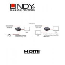 Rozdzielacz / switch HDMI 4K UHD Lindy 38036
