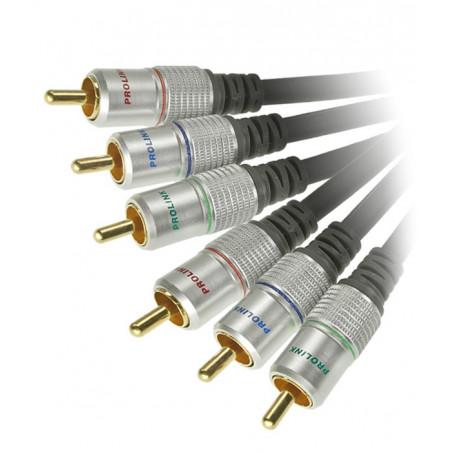 Prolink Exclusive TCV 5250 1.2m kabel 3 RCA Component