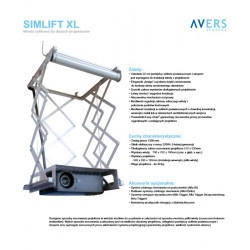 Winda sufitowa do projektora AVERS SimLift XL