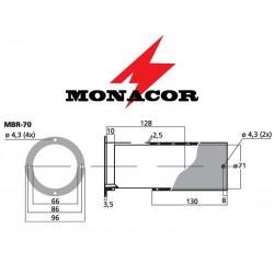 Rura port Bass-Reflex Monacor MBR-70