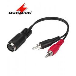 Przejściówka DIN 5 pin - 2 x RCA Monacor ACA-15/3