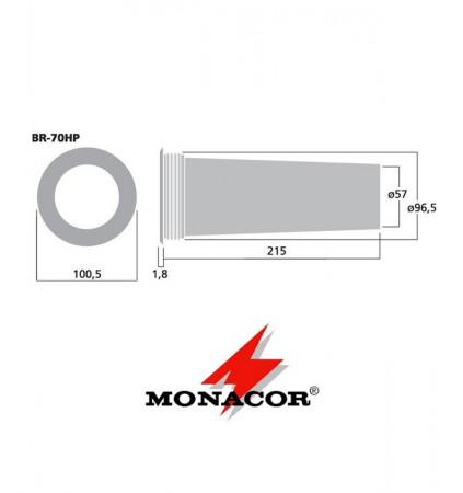 Rura port Bass-Reflex Monacor BR-70HP