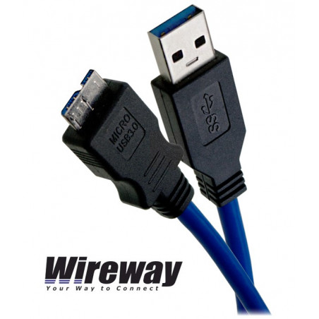 Kabel USB 3.0 typu A - micro B Wireway WW00344 - 0.5m