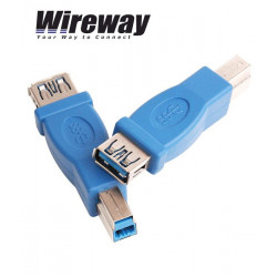 Adapter USB 3.0 gniazdo typ A - wtyk USB typ B Wireway WW332201