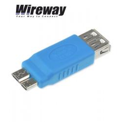 Adapter USB 3.0 gniazdo typ A - micro USB typ B Wireway WW332202