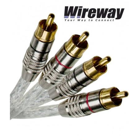 Kabel 2RCA - 2RCA Wireway WW220010 - 1m