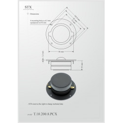 Głośnik wysokotonowy STX T.10.200.8.PCX