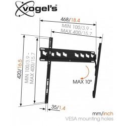 Uchwyt uchylny ścienny Vogels MA3010