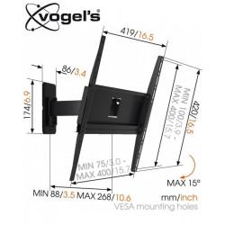 Uchwyt uchylny ścienny Vogels MA3030