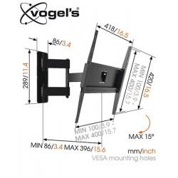 Uchwyt uchylny ścienny Vogels MA3040