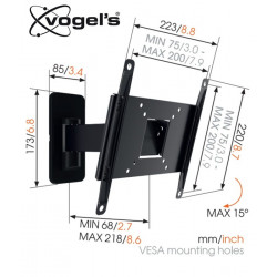 Uchwyt uchylny ścienny Vogels MA2030