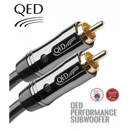 Kabel do subwoofera 1RCA QED PERFORMANCE QE6302 - 10m