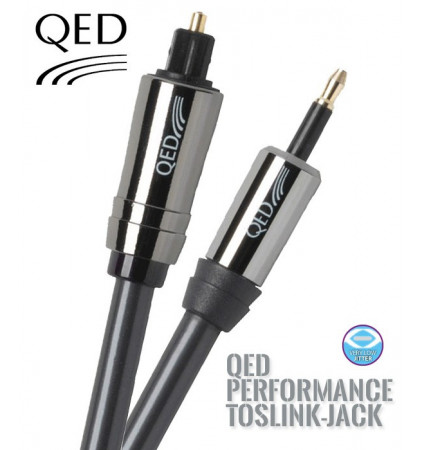 Kabel optyczny TOSLINK-JACK QED PERFORMANCE QE7101 - 1.5m