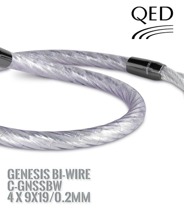 Kabel głośnikowy QED GENESIS BI-WIRE C-GNSSBW 4x9x19/0.2 [1 m.b]