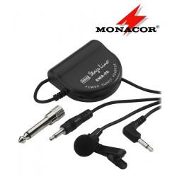 Mikrofon krawatowy z zasilaczem MONACOR ECM-2500