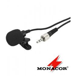 Elektretowy mikrofon krawatowy Monacor ECM-821LT