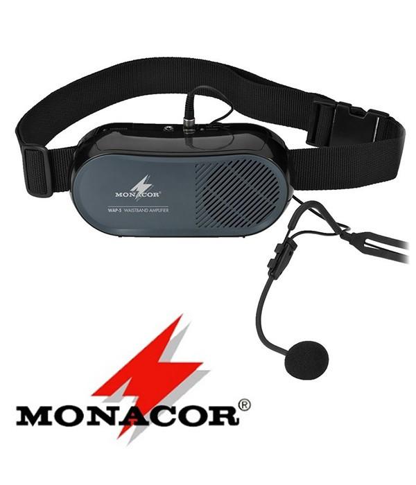 Przenośny wzmacniacz głosu z mikrofonem MONACOR WAP-5