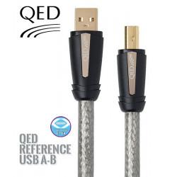 Kabel USB typ A - typ B QED QE3240 - 0.3m