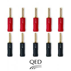 Wtyki bananowe QED QE1885 - 10 szt.