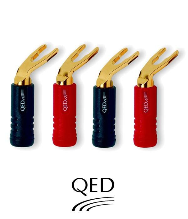 Wtyki widełkowe QED QE1890 - 4 szt.