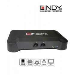 Switch (przełącznik) VGA + audio (D-sub) Lindy 32529