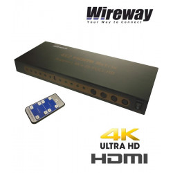 Matrix HDMI 4/2 Professional 6,75Gbps 1.4b Wireway WW553001