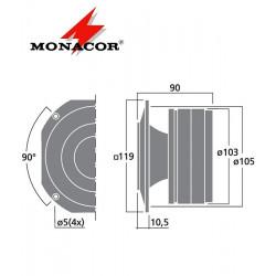 Głośnik pierścieniowy PA MONACOR MHD-540