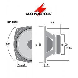 Głośnik pełnopasmowy MONACOR SP-155X