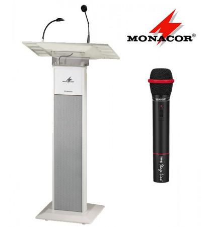 Przenośna mównica z mikrofonem MONACOR ETS-840TXS