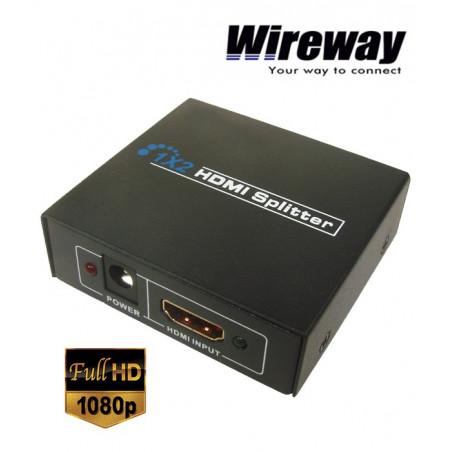 Rozgałęźnik splitter 1/2 Professional HDMI 1.4b Wireway WW552001