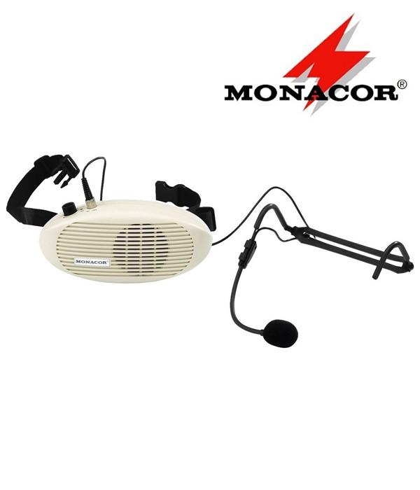 Przenośny wzmacniacz głosu z mikrofonem MONACOR WAP-4
