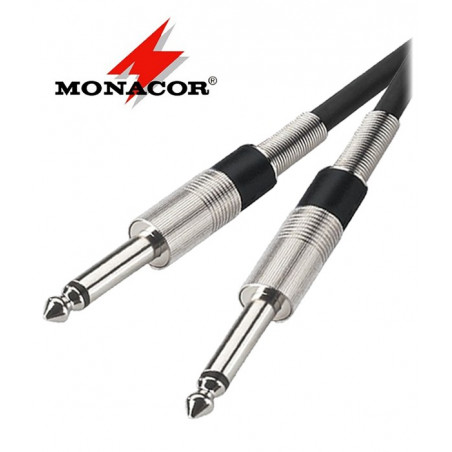 Kabel instrumentalny Jack 6.3 mm Monacor MCC-300/SW - 3m