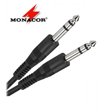 Kabel instrumentalny stereo Jack 6.3 mm Monacor MCC-124/SW - 1.2m