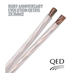 Kabel głośnikowy QED RUBY Anniversary Evolution QE1315 - 2x3mm2