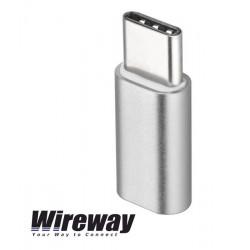Adapter gniazdo micro USB - wtyk typ C Wireway WW330201