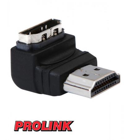 Przejściówka kątowa gniazdo HDMI - wtyk HDMI PROLINK PB 003
