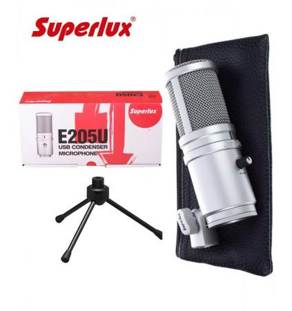 Studyjny mikrofon pojemnościowy z interfejsem USB SUPERLUX E205U