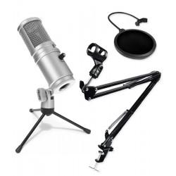 Statyw uchwyt + studyjny POP filtr PS1 + mikrofon Superlux E205U