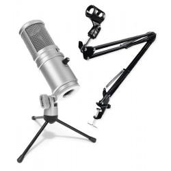 Uchwyt statyw + mikrofon USB Superlux E205U