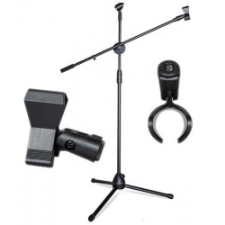 Uniwersalny statyw/uchwyt mikrofonowy 2m + uchwyty