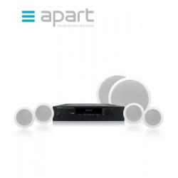 Zestaw nagłośnienowy APART AUDIO SHOPSETI - 4x CM4 + 2x CMSUB8 + wzmacniacz Concept1