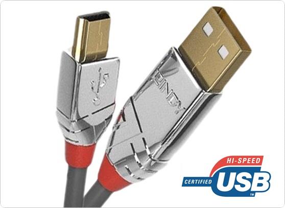 Kabel USB A-miniB Lindy 3663x - cecha 1